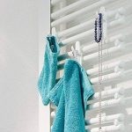 Crochet universel-lot de 2–radiateur de salle de bain-rundheizkörper heizung. couleur: blanc de la marque C & P Bauer GbR image 1 produit
