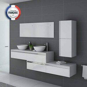 Distribain Meuble Double Vasque Dolce Vita Blanc de la marque Distribain image 0 produit
