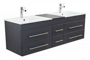 Emotion Meuble salle de bain double vasque Roma XL anthracite satiné de la marque Emotion image 0 produit