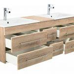 Emotion Meuble salle de bain double vasque Roma XL décor chêne de la marque Emotion image 3 produit
