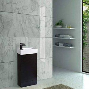 ENKI Meuble sous-Vasque mitigeur pour lavabo carré Noir chêne Noir de la marque ENKI image 0 produit