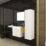 Ensemble meubles de salle de bain design avec lavabo et miroir de la marque bad1a image 2 produit
