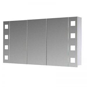 Eurosan New York, NY120 armoire de toilette à miroir, éclairage LED intégré, 3 portes, 120 x 62 cm (largeur x hauteur), coloris blanc de la marque Eurosan image 0 produit