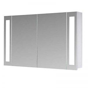 Eurosan San Francisco, SF100 armoire de toilette à miroir, éclairage LED intégré, 2 portes, 100 x 62 cm (largeur x hauteur), coloris blanc de la marque Eurosan image 0 produit