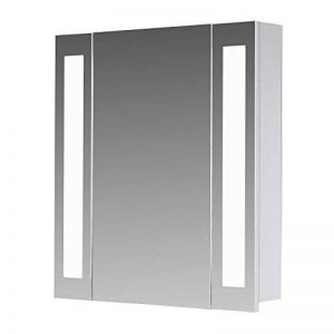 Eurosan San Francisco, SF60 armoire de toilette à miroir, éclairage LED intégré, 1 porte, 60 x 62 cm (largeur x hauteur), coloris blanc de la marque Eurosan image 0 produit
