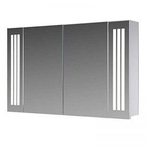 Eurosan Sydney, S100 armoire de toilette à miroir, éclairage LED intégré, 2 portes, 100 x 62 cm (largeur x hauteur), coloris blanc de la marque Eurosan image 0 produit