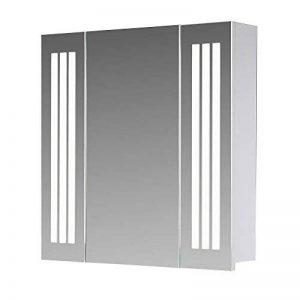 Eurosan Sydney, S120 armoire de toilette à miroir, éclairage LED intégré, 3 portes, 120 x 62 cm (largeur x hauteur), coloris blanc de la marque Eurosan image 0 produit