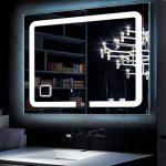 EXCELUMIR Miroir Salle de Bains LED Design Anti buée Prise Emma (Chaude, 100_x_60_cm) de la marque EXCELUMIR image 3 produit