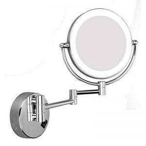 Excelvan Miroirs de Maquillage Miroirs de Table Miroir Lumineux Maquillage Miroirs LED 360°Miroir de Grossissement à Base Ronde Miroir de Courtoisie Double Face - 10X de la marque Excelvan image 0 produit