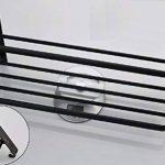 FACAIG Sèche-serviettes, salle de bains mural forage matériaux aluminium 60cm porte-serviettes mural noir acier inoxydable de la marque FACAIG image 3 produit