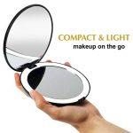 Fancii LED Miroir de Poche Lumineux, Grossissant 1x / 10x - Grand Miroir à Main de Maquillage avec Éclairage Naturel, 12,7 cm de Diamètre, Compact et Portable pour Voyage de la marque Fancii image 1 produit