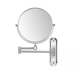 FEMOR Miroir Mural Double Face 360°Pivotant Extensible cosmétique de 8 inch/Ø 20cm Miroir Maquillage grossissement 10 fois de la marque Femor image 0 produit