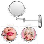 FEMOR Miroir Mural Double Face 360°Pivotant Extensible cosmétique de 8 inch/Ø 20cm Miroir Maquillage grossissement 10 fois de la marque Femor image 1 produit