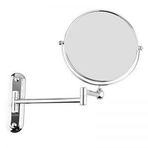 Finether Miroir Mural Maquillage 10x Grossissement, Miroir de Salle de Bain 8 Pouces Miroir Cosmétique Pliant Double Face de la marque Finether image 0 produit