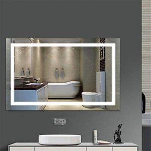 Flyelf 100 * 60CM Miroir Mural de Salle de Bains, avec la Lumière 23W, Commutateur Tactile de la marque Flyelf image 0 produit