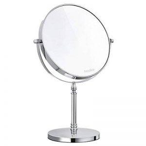 Frcolor grossissant x 10Miroir de maquillage, double face miroir pivotant 360° de rotation ronde Miroir de maquillage avec miroir Chiffon de nettoyage, 35,1cm Hauteur de la marque FRCOLOR image 0 produit