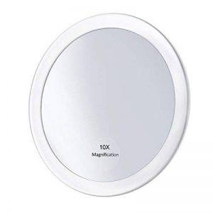 """Frcolor Miroir grossissant 10X avec 3 ventouses, Miroir cosmétique Miroir de poche pliant 5.9 """"(Blanc) de la marque Frcolor image 0 produit"""