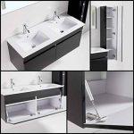 Générique ALBAN Salle de Bain Complete Double Vasque 120 cm - Laqué Noir Brillant de la marque Générique image 3 produit
