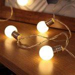 Guirlande Lumineuse Décorative 10 Mini Ampoules Rondes Opaques Finition Culot Argenté - Éclairage à LED à Piles - avec Minuteur On/Off Auto - 1,50 Mètre de la marque Festive Lights image 2 produit