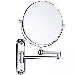 Gurun 8 Pouces Double Face Miroir Mural Grossissant 10 fois grossissement Extension Pliant - 360 degrés rotation - Élégant et pratique de la marque GuRun image 0 produit