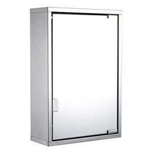 Harima - Cabinet miroir de salle de bains Armoire et 3étagères, montage mural, cadre en acier inoxydable de la marque Harima image 0 produit