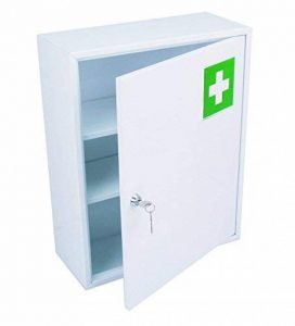 HEXOTOL Armoire à Pharmacie avec Porte Acier Blanc 36 x 15 x 45 cm de la marque HEXOTOL image 0 produit