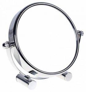 HIMRY Miroir cosmétique sur pied, Grossissement x10, Compact Miroir de Table, 6 inch, orientable sur 360°, 100% et 1000%, chrome, miroir de Ø 15,3 cm, KXD3142-10x de la marque HIMRY image 0 produit