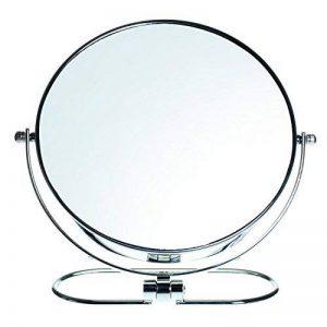 HIMRY Pliable Miroir cosmétique Double Face 8inch, grossissement 10x, Rotatif à 360°. Miroir cosmétique Miroir de Table Miroir 2: Normal et 10–Grossissement, chromé, kxd3125–10x de la marque HIMRY image 0 produit