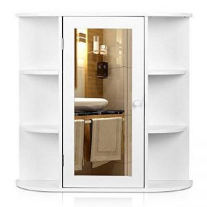HOMFA Meuble Salle de Bains Armoire de Toilette avec Miroir Armoire Suspendue Blanc (Type-1) de la marque Homfa image 0 produit