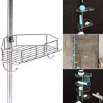 IDMarket - Etagère d'angle de douche télescopique en acier inoxydable de la marque IDMarket image 4 produit