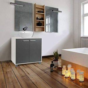 IDMarket - Meuble sous lavabo gris pour vasque de salle de bain de la marque IDMarket image 0 produit