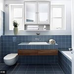 IKAYAA Armoire de Toilettes Salle de Bains Armoire Murale Miroirs Salle de Bain 2 Portes 3 étagères Meubles de Cabinet de Mur de Salle de Bains 56 X 13 X 58 cm de la marque IKAYAA image 1 produit