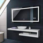 Illumination LED miroir muraux sur mesure eclairage salle de bain | INTERRUPTEUR TACTILE + HORLOGE LED de la marque FORAM image 2 produit