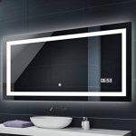 Illumination LED miroir muraux sur mesure eclairage salle de bain | INTERRUPTEUR TACTILE + HORLOGE LED de la marque FORAM image 3 produit