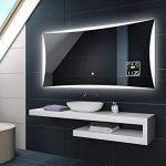 Illumination LED miroir muraux sur mesure eclairage salle de bain | INTERRUPTEUR TACTILE + STATION MÉTÉO S3 de la marque FORAM image 1 produit
