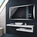 Illumination LED miroir muraux sur mesure eclairage salle de bain | INTERRUPTEUR TACTILE + STATION MÉTÉO S3 de la marque FORAM image 2 produit