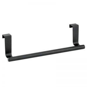 InterDesign Forma porte serviette salle de bain sans perçage, petit support serviette en métal, noir mat de la marque InterDesign image 0 produit