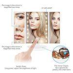 ISASSY Miroir Maquillage Lumineux Pliable à LED Miroir Grossissant Lumineux 1X / 2X / 3X Miroir de Table 180 Degrés Rotatif pour Un Maquillage Précis et Une Epilation De Près-Blanc de la marque ISASSY image 2 produit