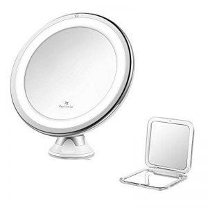 Jerrybox Miroir de Maquillage Lumineux, Grossissant 7X, Ajustable à 360°, Sans Fil, Ventouse d'Attache, Un Miroir de Poche BONUS, Cadeau Idéal de la marque Jerrybox image 0 produit