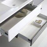 Jindoli Meuble Salle de Bain Simple Vasque 2 tiroirs 90cm décalés Gris Blanc laqué Aquamare ! Coup de ❤ ! de la marque Jindoli image 2 produit