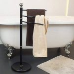 Kela 20972 porte-serviettes, métal mat noir, hauteur 92 cm, Graphit' de la marque Kela image 4 produit