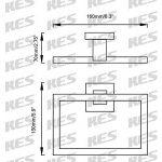 KES Bain Accessoires SUS 304 Acier Inoxydable Porte Serviette Anneau, Finition Brossée, LA242-21 de la marque Kes image 2 produit