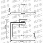 KES Bain Accessoires SUS 304 Acier Inoxydable Porte Serviette Anneau, Finition Brossée, LA242-21 de la marque Kes image 3 produit