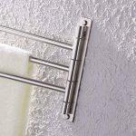 KES SUS 304 En Acier Inoxydable Porte-serviette Activités 3-bras Bras Pivotant Hanger Bains Stockage Support Mural, Brossé, A2102S3-2 de la marque Kes image 4 produit