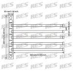 KES SUS 304 En Acier Inoxydable Porte-serviette Activités 5-bras Bras Pivotant Hanger Bains Stockage Support Mural, Brossé, A2102S5-2 de la marque Kes image 2 produit