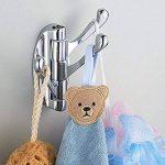 L&HM Crochet Mural Pivotant en Acier Inoxydable avec 3 Bras Pliable, Cintre Suspendu/Patère/Porte-Serviette à Rotation 180° pour Salle de Bain/Maison/Garage de la marque L&HM image 3 produit