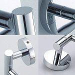 L&HM Porte-serviettes Support Mural/Sèche-Serviettes en Acier Inoxydable avec 4 Barres Rotatives pour salle de bain/cuisine/lavabo 38 x 23.5CM de la marque L&HM image 4 produit