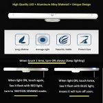 Lampe de Placard 22 LED Veilleuse LED avec Détecteur de Mouvement 3 Modes d'Eclairage Lampe d'Armoire à Pile sans Fil USB Rechargeable pour Armoire Placard Meuble de Cuisine Escalier Miroir Lumière Chaud de la marque O'BLACK image 1 produit