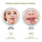 Lavany Miroir de Poche, Grossissant 10X, Double Face, Miroir à Main Compact, Diamètre 10,7cm, Facile à Porter de la marque LAVANY image 1 produit