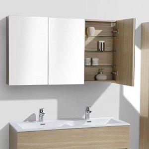 Le Monde du Bain Armoire de Toilette Bloc-Miroir Siena Largeur 120 cm, chêne Clair de la marque Le Monde du Bain image 0 produit